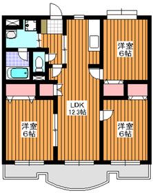 パラッツオ赤塚1階Fの間取り画像