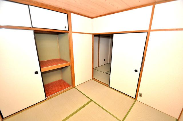 ロイヤルハイツ八戸ノ里 陽当りの良いベッドルームは癒される心地良い空間です。