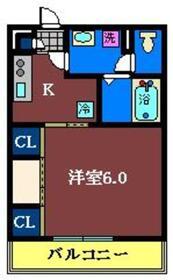 リブリ・SUZUYASU2階Fの間取り画像
