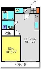 岡本ビル4階Fの間取り画像