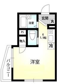 ロイヤルハイツ鶴見2階Fの間取り画像