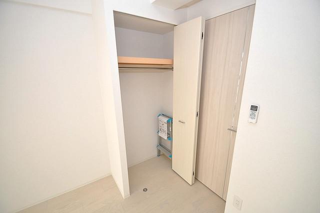 セレニテオズ北巽 もちろん収納スペースも確保。おかげでお部屋の中がスッキリ。