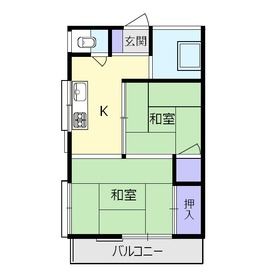 アパートメント正興No.32階Fの間取り画像