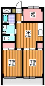 山口ビル3階Fの間取り画像