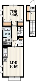 Sハイム2階Fの間取り画像