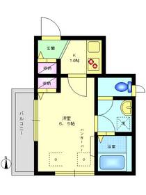 SKYハイツ2階Fの間取り画像