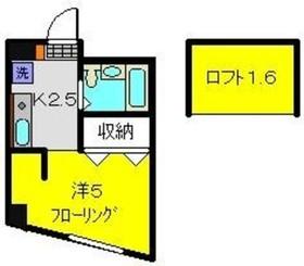 コーポ鶴ヶ峰2階Fの間取り画像