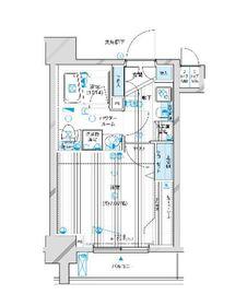 メインステージ川崎Ⅵエグザ2階Fの間取り画像