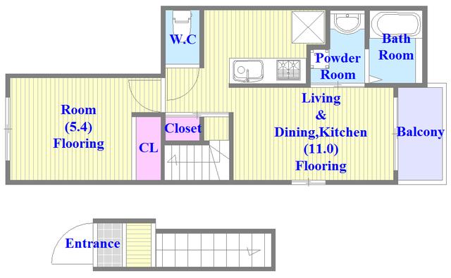 カーサルミエール リビングが広く、各所に収納がある使いやすい間取り。