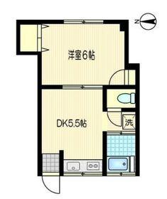 すずらんビル3階Fの間取り画像