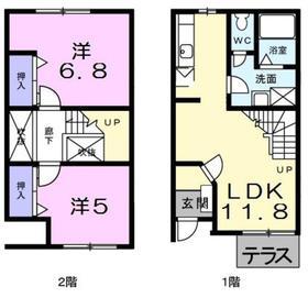 ニュークレストール石井1階Fの間取り画像