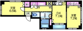 篠田ビル3階Fの間取り画像