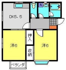 レモンバーム21階Fの間取り画像