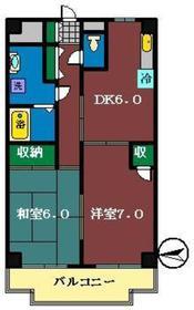 夏見ショッパーズ3階Fの間取り画像