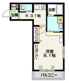 メゾン オリヴィエ3階Fの間取り画像