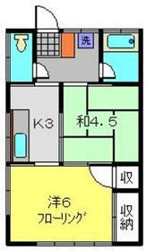 浜コーポ2階Fの間取り画像