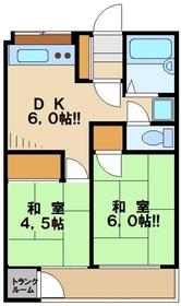 大塚マンション3階Fの間取り画像