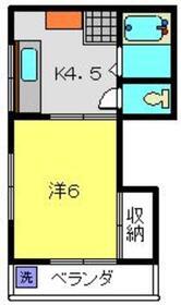 福田ビル3階Fの間取り画像