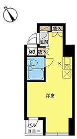 スカイコート田端10階Fの間取り画像
