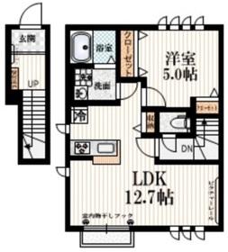 シェモア仙川壱番館2階Fの間取り画像