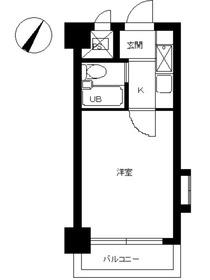 スカイコート横浜真金町5階Fの間取り画像