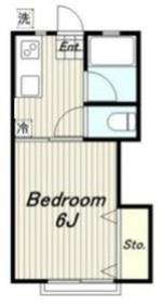 カツザワコーポ2階Fの間取り画像