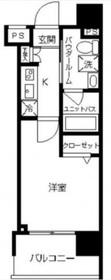 川崎駅 徒歩5分8階Fの間取り画像
