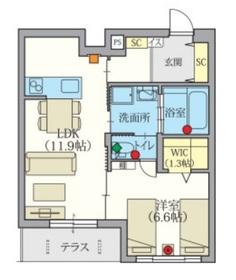 Gran Bliss 武蔵浦和1階Fの間取り画像