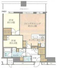 パークシティ武蔵小杉ザガーデンタワーズイースト43階Fの間取り画像
