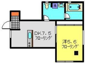 平川町アパートメント1階Fの間取り画像