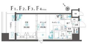 フェニックスヨコハマスクエア5階Fの間取り画像