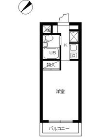 スカイコート阿佐ヶ谷3階Fの間取り画像