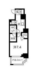 スパシエグランス横浜反町8階Fの間取り画像