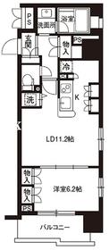 レジディア御茶ノ水6階Fの間取り画像