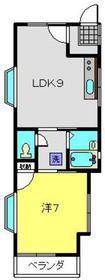 コーポ192階Fの間取り画像