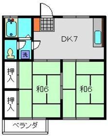 ハイツ峯宇2階Fの間取り画像