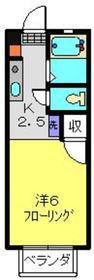 サニーヒルセイ2階Fの間取り画像