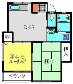 松栄荘1階Fの間取り画像