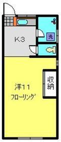 キャトルイケダⅡ1階Fの間取り画像