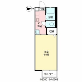 メゾンドマモール2階Fの間取り画像