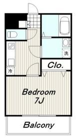 エストデュポン1階Fの間取り画像