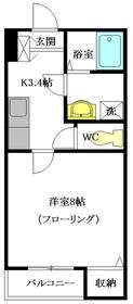 Comfort Garden Ⅱ2階Fの間取り画像