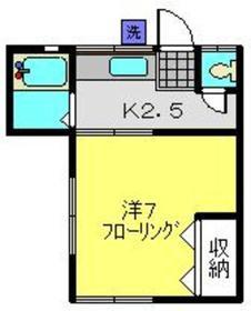 コートビレッジ神大寺1階Fの間取り画像