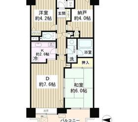 菊川パーク・ホームズ3階Fの間取り画像