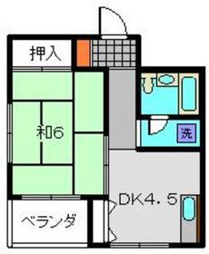 第1内田ビル3階Fの間取り画像