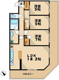 黒川駅 徒歩20分7階Fの間取り画像