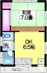 上村貸室2階Fの間取り画像