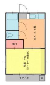 第2モリコーポ2階Fの間取り画像