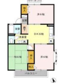 横浜ハウス1階Fの間取り画像