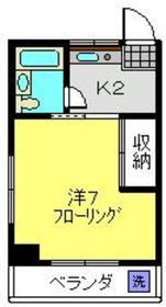 佐野マンション3階Fの間取り画像